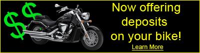 Deposits for Bikes!